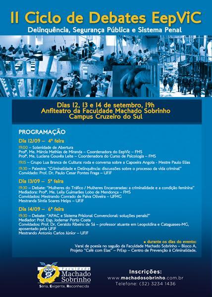 II CICLO DE DEBATES REALIZADO EM 2012 PELO EEPVIC