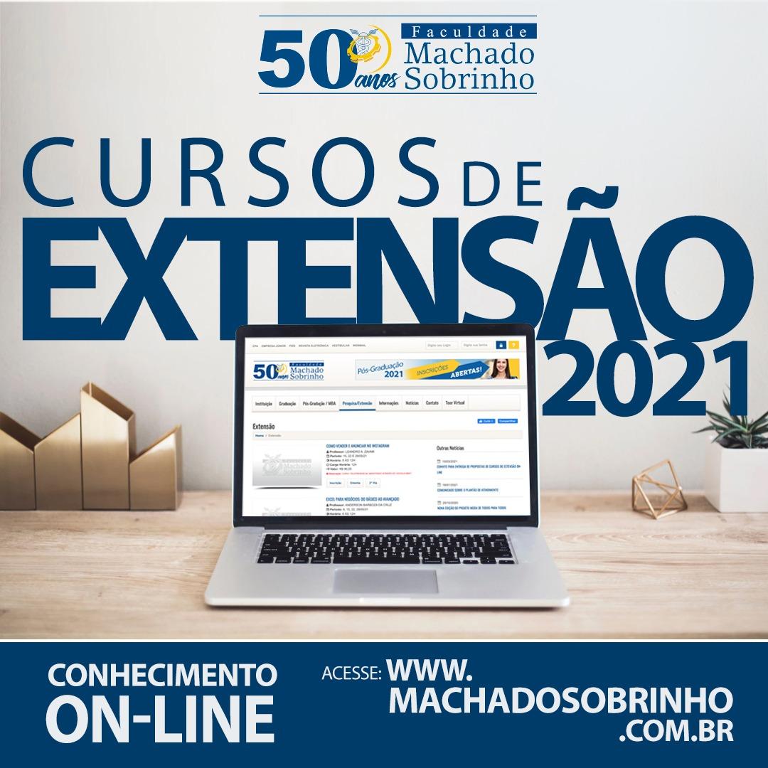 INSCRIÇÕES ABERTAS PARA OS CURSOS DE EXTENSÃO ON-LINE