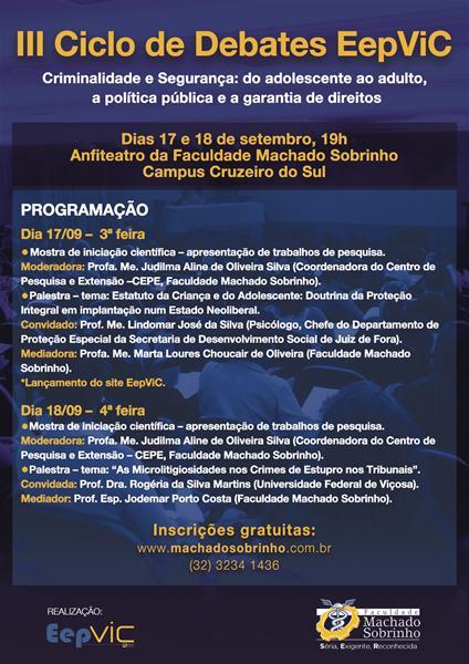 III CICLO DE DEBATES REALIZADO EM 2013 PELO EEPVIC